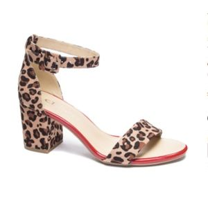 Chinese Laundry Jody Leopard Suede Heel